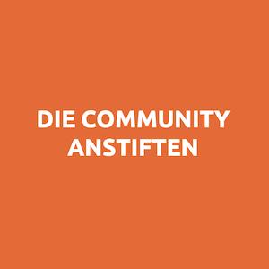Speaker - Workshop Community anstiften